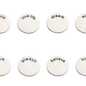 Backplates 17 mm for 25 mm lockets